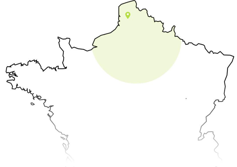 Zone d'intervention Haut-sde-France Nord Paris-entreprise de démolition Helfaut Travaux