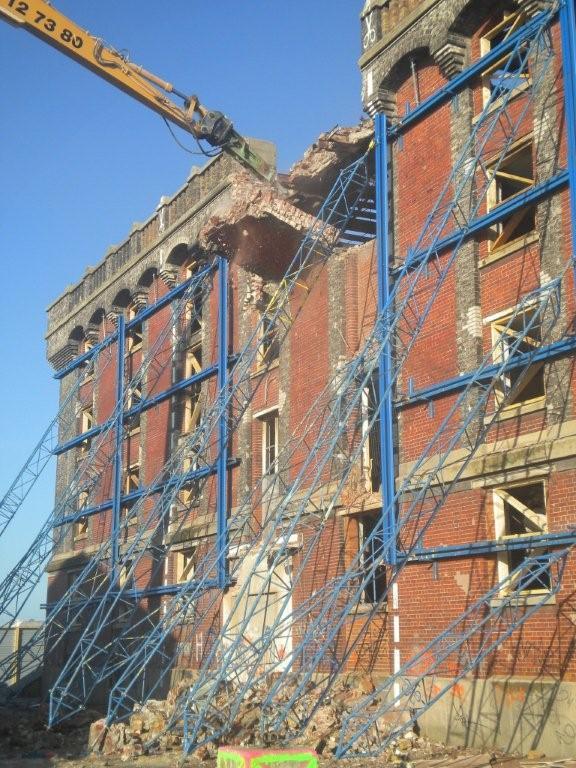 Entreprise de démolition Helfaut Travaux Nord, conservation de façades