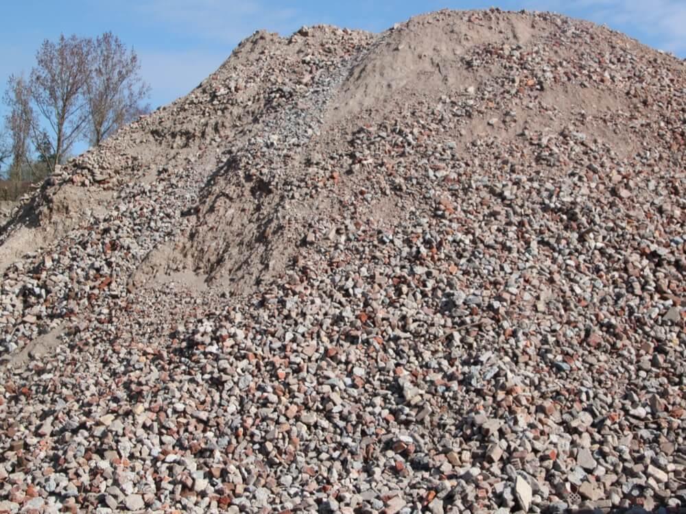 vente de concassé brique 0/60, issu de valorisation matière des chantiers d'Helfaut Travaux