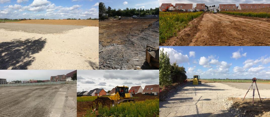 Helfaut Travaux, entreprise de terrassement & création de plateforme en Hauts-de-France